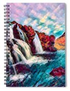 Iceland Waterfalls Spiral Notebook
