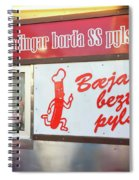 Iceland's World Famous Hot Dog Stand Iceland 2 3122018 J2328.jpg Spiral Notebook