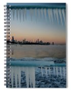 Icicles And Chicago Skyline Spiral Notebook