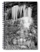 Icicles At Frozen Head Spiral Notebook