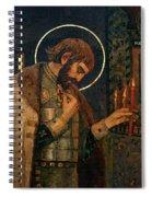 Icon Of Reverend Prince Alexander Nevsky. Saint Petersburg Spiral Notebook
