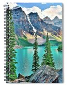 Iconic Banff National Park Attraction Spiral Notebook