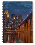 Iconic Minneapolis Stone Arch Bridge Spiral Notebook
