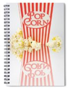 Iconic Striped Popcorn Carton Spiral Notebook