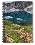 Icy Blue And Lush Green Spiral Notebook
