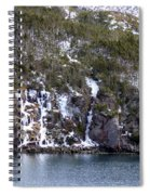 Icy Cliff In Winter Spiral Notebook