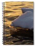 Icy Gold And Silk - Luminous Icicles Reflected On Glossy Water Spiral Notebook