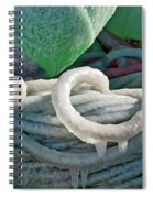 Icy Lines Spiral Notebook
