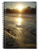 Icy Mississippi River Bank At Sunrise Spiral Notebook