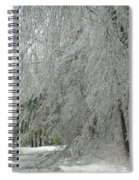 Icy Street Trees Spiral Notebook