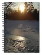 Icy Sunrise Reflection Spiral Notebook