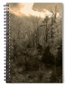 Icy Trees In Sepia Spiral Notebook