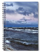 Icy Waters Of Superior Spiral Notebook
