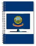 Idaho Flag Tv Spiral Notebook