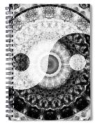 Ideal Balance Black And White Yin And Yang By Sharon Cummings Spiral Notebook