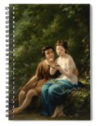 Idyll In The Forest Interior Spiral Notebook