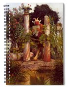 Idyll Pan Amidst Columns 1875 Spiral Notebook