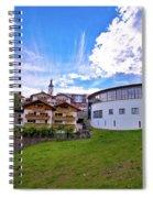 Idyllic Alpine Town Of Kastelruth On Green Hill View Spiral Notebook