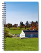 Idyllic Autumn Farm Spiral Notebook