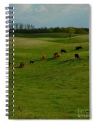 Idyllic Cows In The Hills Spiral Notebook