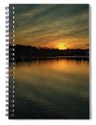 Idyllic Philadelphia Sunset Spiral Notebook