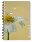 If I Had A Flower Quote Spiral Notebook