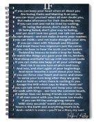 If Poem Blue Canvas Spiral Notebook