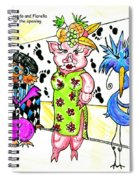 Iggy Poo Sow Miranda And Florella  Decked Out For The Opening Spiral Notebook
