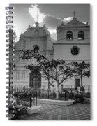 Iglesia Ciudad Vieja - Guatemala Bnw Spiral Notebook