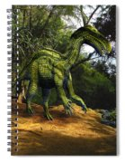 Iguanodon In The Jungle Spiral Notebook