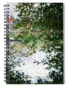 Ile De La Grande Jatte Through The Trees Spiral Notebook