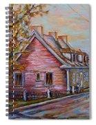 Iles D'orleans Quebec Village Scene Spiral Notebook
