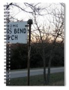 Illinois Bend Church Sign Spiral Notebook