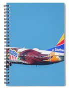 Illinois One Departing Dca Spiral Notebook