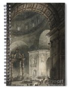Illumination Of The Cross In St. Peter's On Good Friday, 1787 Spiral Notebook