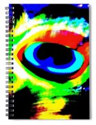 Illusion Of Colors Spiral Notebook