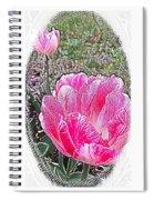 Illustrated Rose Vignette Spiral Notebook