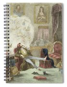 Illustration From Visitation Of A London Exquisite To His Maiden Aunts In The Country Spiral Notebook