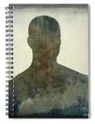 Illustration Of A Human Bust. Silhouette Spiral Notebook