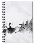 Illustration Of City Skyline - Kiev In Chinese Ink Spiral Notebook