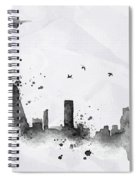 Illustration Of City Skyline - Rio De Janeiro In Chinese Ink Spiral Notebook