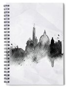 Illustration Of City Skyline - Rome In Chinese Ink Spiral Notebook