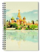 Illustration Of Moscow In Watercolour Spiral Notebook