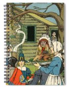 Illustration Of The First Thanksgiving Spiral Notebook