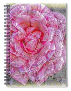 Illustration Rose Pink Spiral Notebook