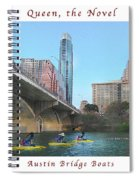 Image Included In Queen The Novel - Austin Bridge Boats Enhanced Poster Spiral Notebook