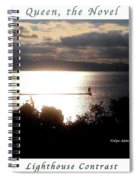 Image Included In Queen The Novel - Lighthouse Contrast Enhanced Poster Spiral Notebook