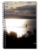 Image Included In Queen The Novel - Lighthouse Contrast Spiral Notebook
