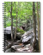 Image Included In Queen The Novel - Rocks At Smugglers Notch Spiral Notebook