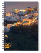 Imerovigli After Sunset, Santorini Spiral Notebook